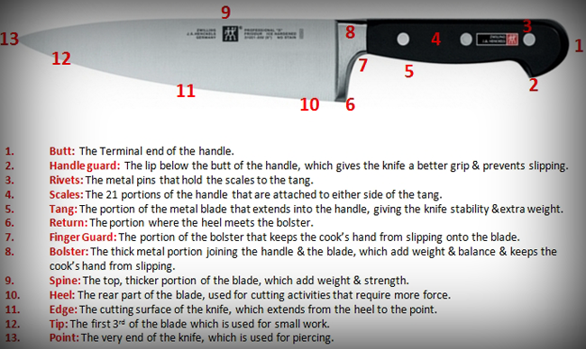 The Parts of a Knife