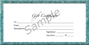 Knife Sharpening Gift Certificate